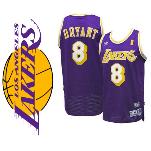 032c3852440 Kobe Bryant L.A. Lakers  8 Throwback Jersey. Boutique. adidas